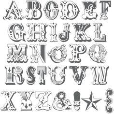 Western inspired lettering