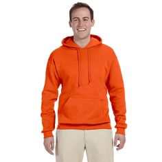 Men's Big and Tall 50/50 Nublend Fleece Safety Pullover Hood