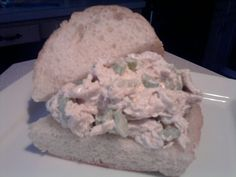 Straub's Chicken Salad Recipe.  This is almost exactly my family's chicken salad recipe...and my grandmother was brought from St. Louis as a little girl...think my great-grandmother might have done some recipe experimentation of her own! Oh, and Hellmann's is Best Foods out west...lol
