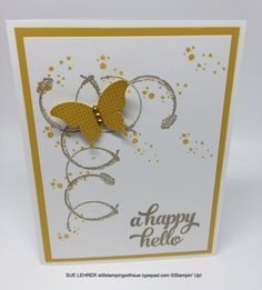 Handmade card using Timeless Textures, Papillon Potpourri and Tin of Cards Stamp Sets from Stampin' Up!