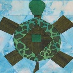 Free Quilt Patterns on this site.  Paper Pieced Turtle by Jennifer Ofenstein (sewhooked.com), via Flickr