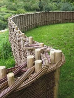 learnbasketry:  Woven Privacy Fence