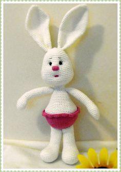 Bunny Rosita.     This bunny pattern is translated from Russian.  http://amigurumi-dominoda.blogspot.com   ABBREVIATIONS    mr,sc n = ma...