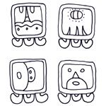 Coloring Pages of Mesoamerican Art. A collection of printable coloring pages featuring Mesoamerican art. All images are based on actual art made by the Mayans, Aztecs, and other Mesoamerican cultures.