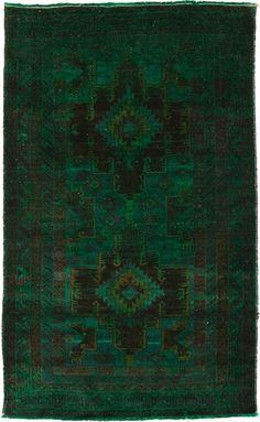 Vintage Indian rug, over-dyed.