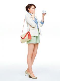 着まわしday14】テーラードジャケット×ブルーシャツ×ネオンツイードセットアップ   ファッション コーディネート   with online on ウーマンエキサイト Blue Shirts, With, Dresses, Fashion, Vestidos, Moda, Fashion Styles, Dress, Fashion Illustrations