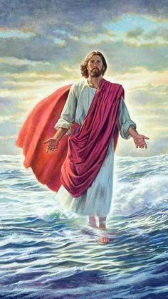 Jesus Walks On Water Painting Photos - Life Of Jesus Christ, Jesus Lives, God Jesus, Lds Pictures, Pictures Of Jesus Christ, Jesus Christ Painting, Jesus Artwork, Jesus Walk On Water, Jesus Drawings