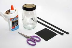 Graduation Craft Materials - Glue, Jar, Scissors, Paper