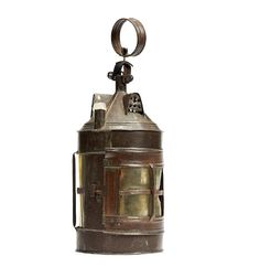 An early 19th century sheet iron and horn pendant lantern, English, circa 1830