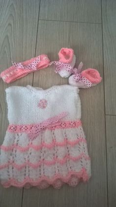 "Hand knitted dolls clothes fit 14"" Reborn Berengeur or similar size doll."