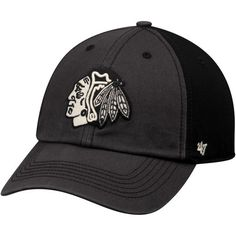 '47 Chicago Blackhawks Black Humboldt Franchise Fitted Hat