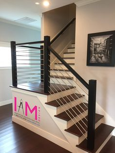 From our friends at Venetian Stairs our stainless steel round bar serves as infill on this stunning modern staircase