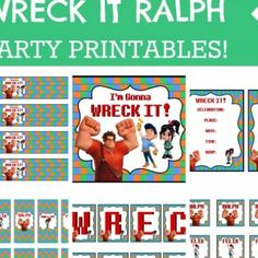Wreck it Ralph Birthday Party {free printables}