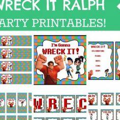 Wreck it Ralph Birthday Party {free printables}