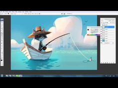 "▶ Speed Painting in Photoshop ""Fishing Cat"" By Tin - YouTube"