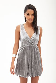 Metallic Surplice Dress | FOREVER21 - 2000060168