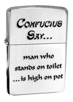 Zippo 28459 Confucius Say Toilet Pot Street Chrome Classic Pocket Lighter NEW