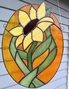 Stained Glass Sunflower by SusesStainedGlass on Etsy