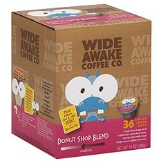 Wide Awake Coffee Donut Shop Blend Kcups 36 Single Serve Cups * You can find out more details at the link of the image. (This is an affiliate link)
