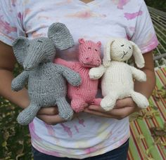 Ravelry: Wee Ones Seamless Knit Toys pattern by Susan B. Anderson only available as an online course through craftsy.com