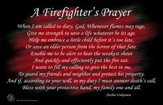 A Firefighter's Prayer Black & Red Poster | Brotherhood® Products