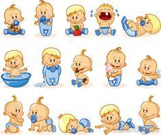 15 cartoon boy vector