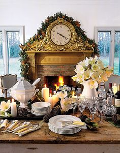 Christmas Table Settings - Decorations and Centerpieces for Christmas Table