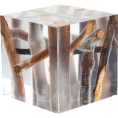 Bleu Nature  Kisimi Frosted Driftwood Cube