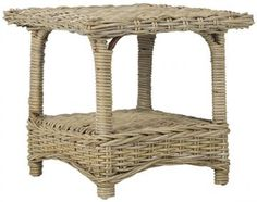Amelia Side Table - Wicker End Tables - Wicker Table - Kubu - Rattan | HomeDecorators.com