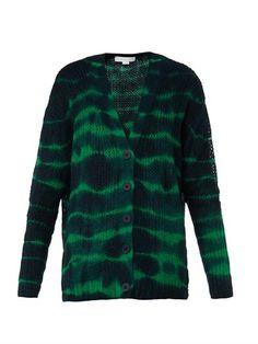 Tie-dye print alpaca-blend cardigan   Stella McCartney   MATCH...