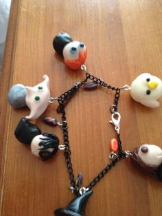 Harry Potter chibi charm bracelet by Shiny Spangles, handmade with Polymer clay £15. Twitter @Hazel