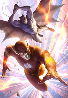 Flashpoint Paradox. Flash and Batman (Dr. Thomas Wayne)