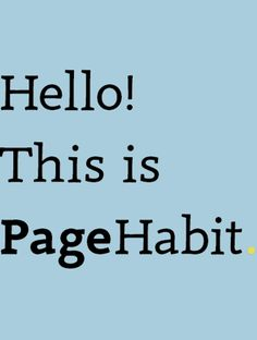 Hot new product on Product Hunt: PageHabit