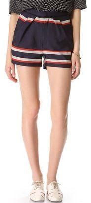 Sea - Striped Pleat Shorts #15Things #fashion #style #trending #silkshorts #Sea