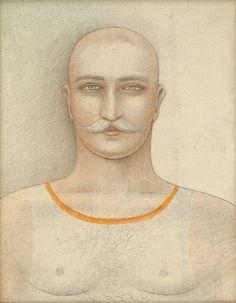 Jan Zrzavý - Portrait of a man, 1937 Roman Catholic, Portrait, Paper, Illustration, Artist, Catholic, Headshot Photography, Artists, Portrait Paintings