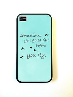 Sometimes You Gotta Fall Quote iPhone 4 Case Fits iPhone 4 & iPhone 4S on Etsy, £8.01
