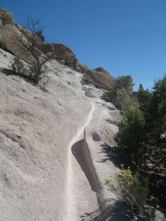 Foot paths at Tsankawi, Bandalier National Monumnet, New Mexico. Walk in the paths of the ancients.