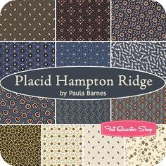 Placid Hampton Ridge Fat Quarter Bundle Paula Barnes for Marcus Brothers Fabrics - Fat Quarter Shop