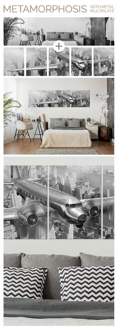 """Douglas multiplate on metal now available on Displate. Incredible airplane artwork on large size metal prints to make your interior special and unique. Click through to see more amazing artworks printed on metal!"