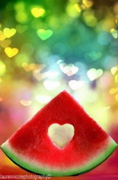 Watermelon heart ღ Heart In Nature, Heart Art, I Love Heart, Happy Heart, Drink Photo, Love Symbols, Colorful Pictures, Belle Photo, Clipart