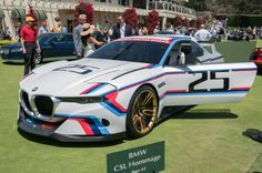 Flared, vented, and bulged from several miles of carbon fiber, the BMW 3.0 CSL Homage R is a surprise take on one of my favorite BMWs of all-time, and in this classic livery, a real knockout.