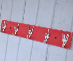 Key Rack made from Vintage Silver Forks Great for Aprons and Oven Mitts by jjevensen, $60.00