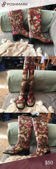 Emilio Pucci Graphic Print Rain Boots | sz 38 Like new, Emilio Pucci Shoes Winter & Rain Boots
