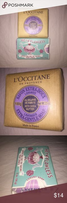 "L'Occitane Lavender Soap set. Natural! Two soaps. Lavender, and lavender Vanilla. Brand new. ""Extra gentle"" soaps. All natural. Lavender vanilla is made with Essential oils. L'Occitane Other"