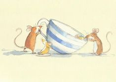 Funny Illustration, Illustrations, Hamsters, Anita Jeram, Cute Cartoon, Cute Drawings, Watercolor Paintings, Watercolour, Art For Kids