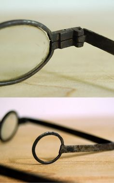 Antique Spectacles 1700s Forged Iron Temple by CalloohCallay