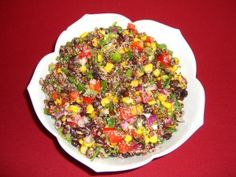 This salad is packed with protein and great if you are living gluten free, dairy free, vegetarian or vegan. If you need meat in what you eat, add it, but it can stand up on it's own.