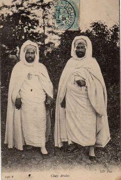 Arabs Chiefs Postcard, Algeria, 1906