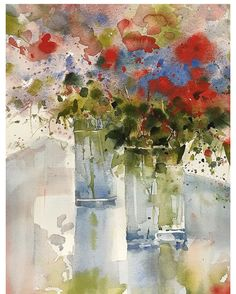 Painting art inspiration watercolor techniques 28 Ideas for 2019 Watercolor Landscape Paintings, Abstract Watercolor, Abstract Flowers, Watercolor Flowers, Fru Fru, Watercolor Techniques, Painting Prints, Painting Art, Flower Art