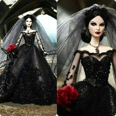 gothic vampire bride barbie doll